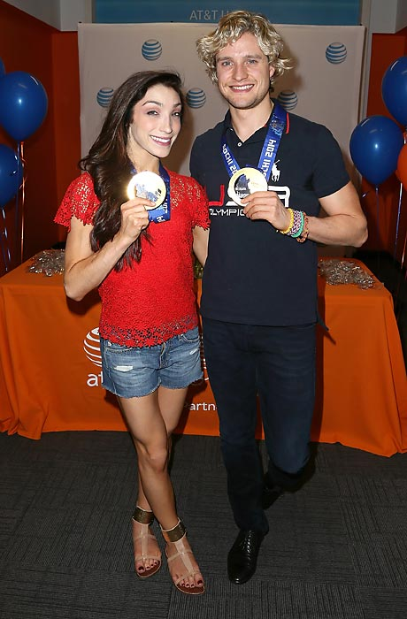 While wowing with bravura performances on <italics>Dancing With The Stars</italics>, the widely admired U.S. Olympic gold medalists will, we hear, ultimately return to their day jobs peddling foil-wrapped chocolate coins at the AT&T Store in West Hollywood.