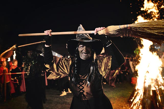 Broom service: Walpurgis, named after Saint Walpurga and celebrated in central and northern European countries, is traditionally marked by bonfires, witches and dancing to usher in the spring season and NHL playoffs, though the Devils didn't make it this year.