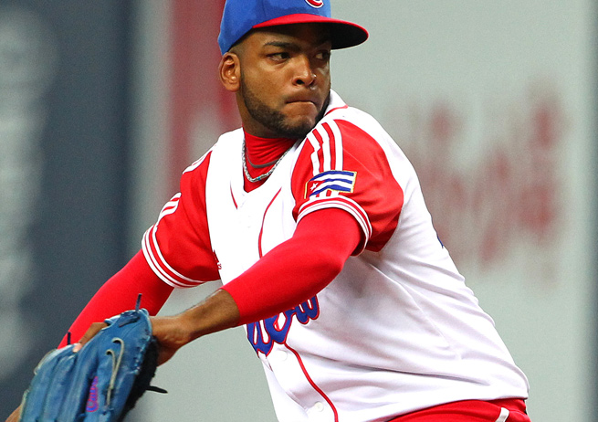 Odrisamer Despaigne pitched for eight seasons in Cuba's professional baseball league.