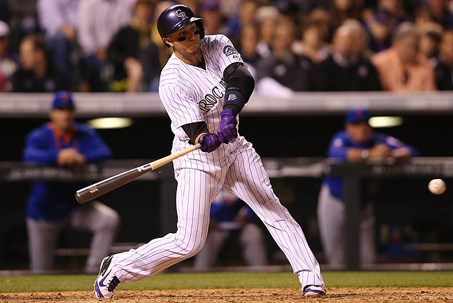 Troy Tulowitzki hit .364/.477/.727 during April, which is the best he's ever hit in one month.
