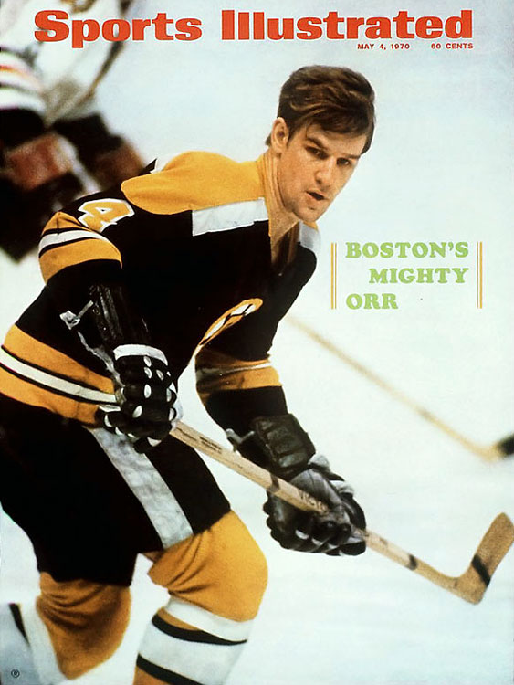 Orr is the choice at number 4, for far more than the Stanley Cup-winning goal he scored for the Bruins in 1970. (Though the image of Orr, arms raised in celebration as he literally flies across the crease, is legendary.) Bobby Orr, quite simply, transformed hockey. Before him, defensemen were just that: defenders. Orr led the NHL in scoring in 1969-70, and at the same time was rugged in his own zone. Orr scored 100 points in a season six times, before his knees failed him too young. He was forced to retire at 30 -- but he left behind a sport changed forever. To purchase Any Given Number, go to SI.com/anygivennumber.