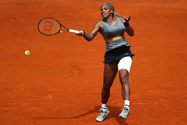 No. 1 Serena Williams easily dispatched Shuai Peng 6-2, 6-3 in the second round of the Madrid Open.