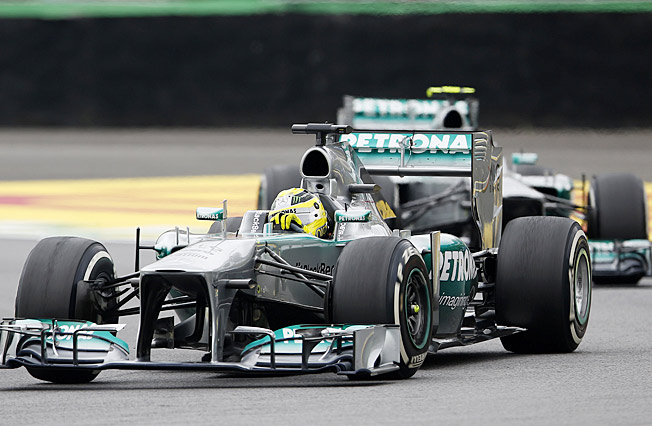 Petronas charm: Nico Rosberg and Lewis Hamilton have been a wizard;y pair this season.