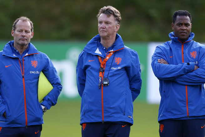 Louis van Gaal claims no deal is in place yet for him to take over as Manchester United manager.