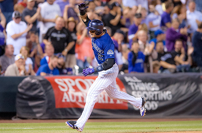 Troy Tulowitzki has gotten a hit in every single game in the month of May, and has only struck out once.