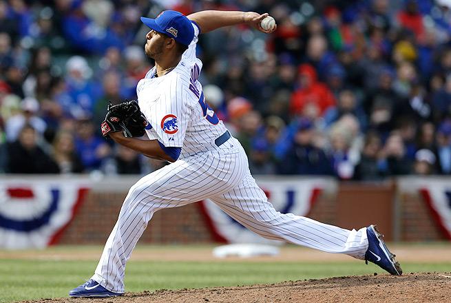 Hector Rondon will be taking the mound in the ninth inning for the Cubs while Pedro Strop is on the DL.