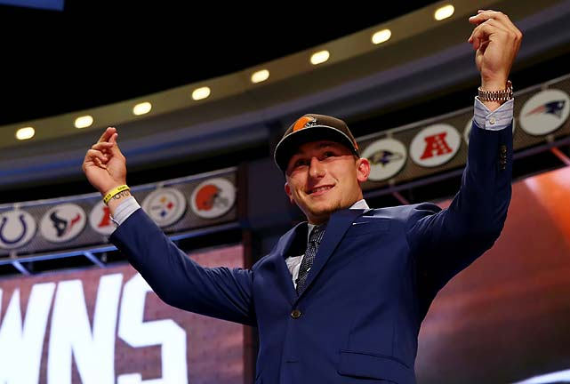 "Johnny Manziel hasn't even played an exhibition game in the NFL yet and he already has a trademark look, which he made sure to flash at the NFL draft. The ""Get Money"" pose drew scorn from his haters and simply laughs from his admirers."