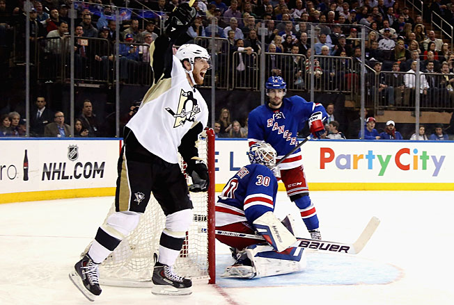 James Neal and the Penguins departed New York in fine fettle after twice dusting the Rangers.