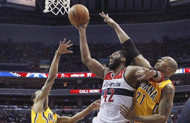 Indiana held Washington to 63 points, a record low for the Wizards in the regular season or playoffs.