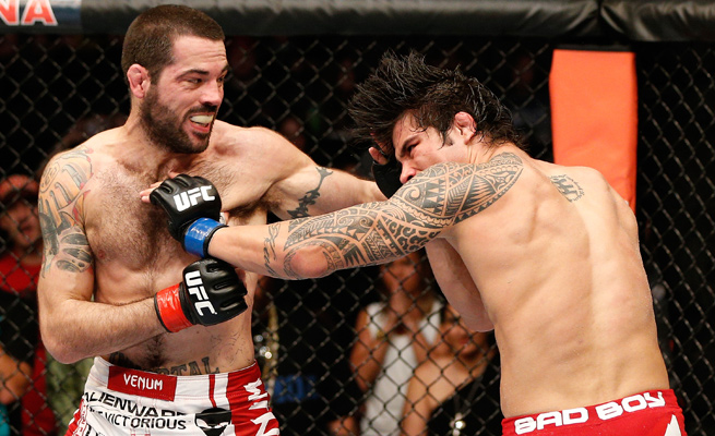Matt Brown was aggressive from the start, punishing Erick Silva en route to a victory by TKO.