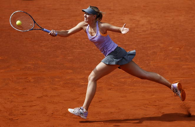 Maria Sharapova bounced back to defeat Simona Halep in the Madrid Open final.