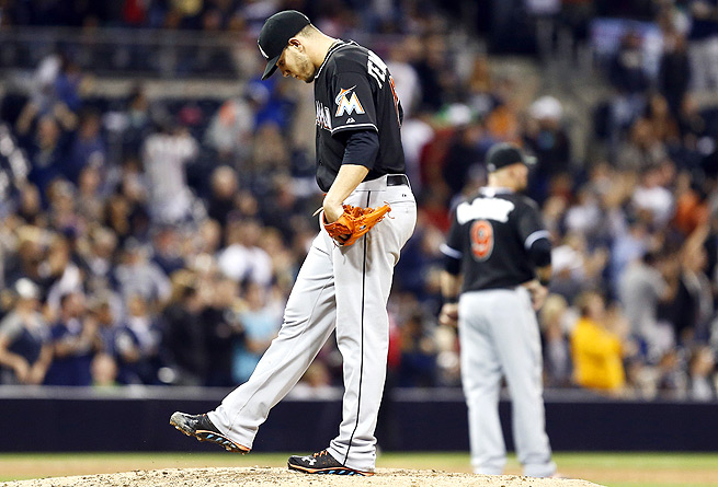 Jose Fernandez first complained of elbow soreness after last Friday's start against the Padres.