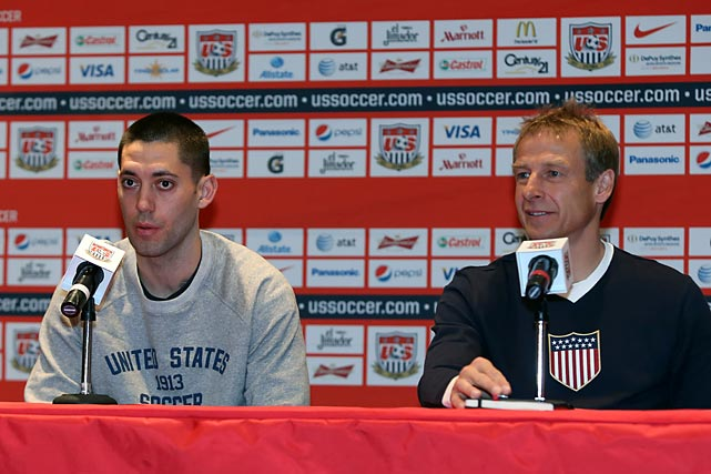 Clint Dempsey and Klinsmann hold court at a presser in Mexico City, a day prior to a World Cup qualifier.