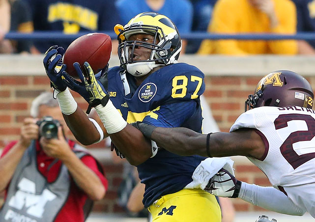 The Eric Ebron comparisons will be made, though Ebron carries about 20 pounds on Funchess right now. Still, Funchess' future is as a slot tight end. He essentially played WR for Michigan in 2013 (49 catches) and may do so again this season. But Funchess likely does not have the speed to hold down a spot out wide in the NFL. He may not have the blocking ability to be more than a receiving tight end, either, so we'll see where his ceiling is.