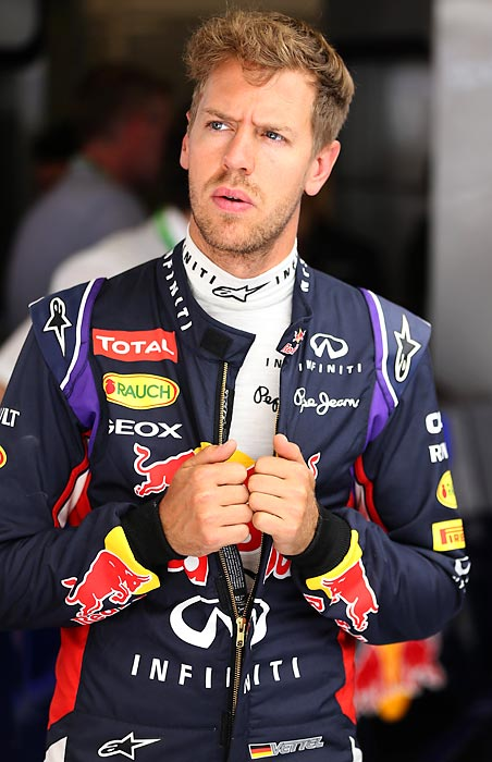 Sebastian Vettel is one of the top F1 drivers on one of the top teams. He's been successful from a young age. And he's a golden boy people love to hate, noted for his victorious finger-wagging gestures.