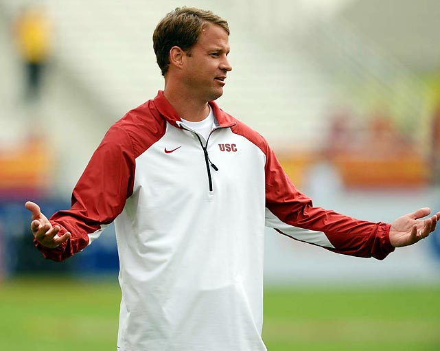 Kiffin's penchant for running his mouth has always gotten him in trouble. Amid controversy surrounding NCAA violations made in public remarks while head coach at Tennessee in 2009, Kiffin bolted after one season for the USC job and alienated the Vols fan base. After two straight mediocre seasons in Southern California, Kiffin was fired in 2013 and took a job with Alabama shortly afterward.
