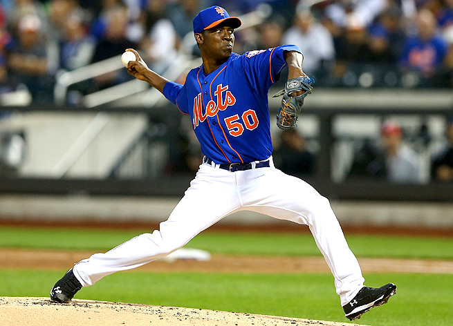 Rafael Montero and Jacob deGrom, starting for the Mets May 15, are the first two Met starters to make major league debuts in back-to-back games.