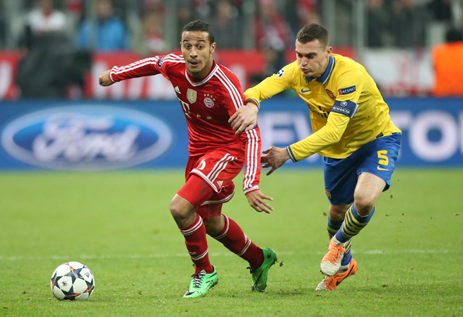 Bayern Munich and Spain midfielder Thiago Alcantara, left, has been ruled out for the World Cup.