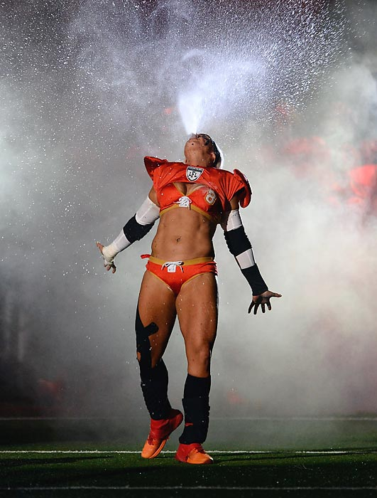 Welcome to another bracing installment of <italics>Did You See That?</italics>, the weekly photo gallery that keeps a vigilant eye on the ever-changing world of contact sports and skimpy undergarments of the kind inhabited by the Legends (nee Lingerie) Football League's Defensive Player of the Year, who plies her trade as a middle linebacker and tight end for the Las Vegas Sin.
