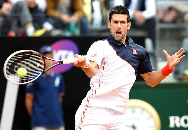 Novak Djokovic overcame an aggressive David Ferrer to reach the semifinals of his first event back from injury.