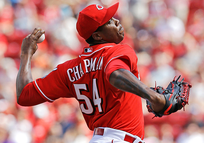Aroldis Chapman has already racked up five strikeouts and a save since returning from his injury.