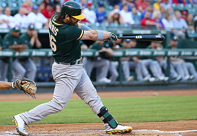 Oakland Athletics catcher Derek Norris (above) and John Jaso make for a monster duo.