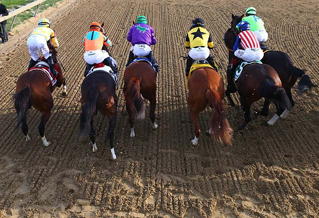 Nothing in this race went according to plan. The dangerous speed horse was supposed to be Social Inclusion, but the colt never charged for the lead. He settled in behind California Chrome in fourth place and let longshot Pablo Del Monte and Ria Antonia, the filly, set the pace.