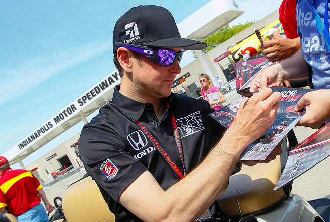 Busch was checked by IndyCar medical director Dr. Michael Olinger and immediately cleared to drive.