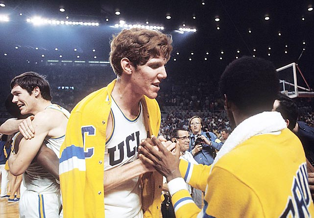 The UCLA Bruins of coach John Wooden were college basketball's greatest dynasty, winning 10 NCAA titles between 1964 and '75. These uber-talented teams certainly needed no help from the NCAA, yet the 1968 and 1972 Final Fours were played at the L.A. Memorial Sports Arena, just a few miles from UCLA's Westwood campus. The '68 team, led by Lew Alcindor, Mike Warren and Lucius Allen, destroyed unbeaten Houston in the semifinals and battered North Carolina in the championship game. UCLA's '72 squad of Bill Walton, Keith Wilkes and Henry Bibby defeated Louisville and then edged Florida State for the Bruins' sixth straight title. Two years later, however, the tables were turned as North Carolina State ended UCLA's run of seven straight championships by winning the 1974 NCAA crown on what amounted to a home court in Greensboro, N.C.