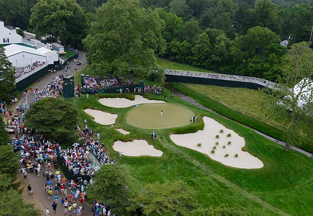 "During a simpler time, the Merion course outside Philadelphia was a classic Open venue. But in an era of massive media and corporate hospitality tents, the club's cramped (to put it kindly) environment no longer meets even the most modest of professional tournament standards. During the 2013 Open, won by England's Justin Rose, neighborhood back yards were enlisted to serve as an interview area and locker room. Private homes became hospitality centers. The course can only accommodate 25,000 fans, far fewer than most Open sites. As ESPN's Rick Reilly noted, Merion is ""the size of a casserole dish"" or like playing ""in your favorite grandmother's attic."" The Open had not been played at Merion since 1981. It could be at least another 32 years before the tournament returns."
