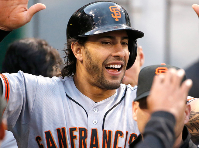 Mike Morse leads the Giants with 10 homers, 28 RBIs and a .520 slugging percentage this year.