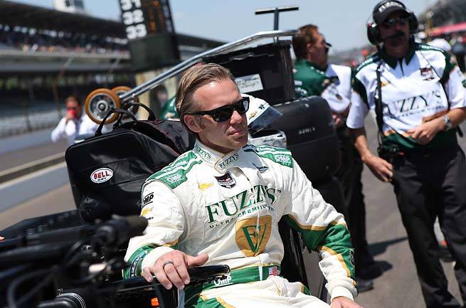 Ed Carpenter will start from the front at this year's Indianapolis 500, a race in which he finished 10th last year.