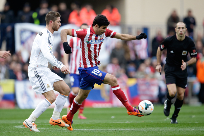 Atletico Madrid star forward Diego Costa (19) is an injury doubt for Saturday's Champions League final against rival Real Madrid.