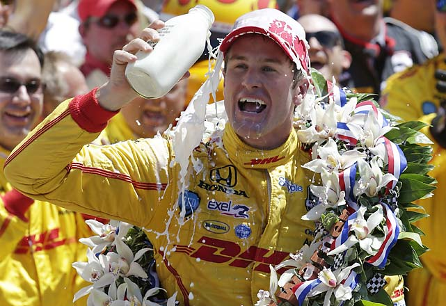"""I'm a proud American boy, that's for sure,"" Hunter-Reay said in Victory Lane before he was joined by his wife and son. ""I've watched this race since I was sitting in diapers on the floor in front of the TV. My son did it today. He watched me here. I'm thrilled. This is American history, this race, this is American tradition."""