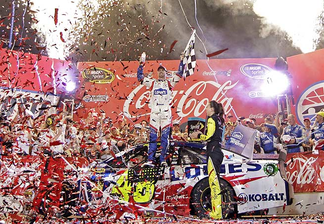 Jimmie Johnson erased any doubt that he'll take a checkered flag with a Coca-Cola 600 win.