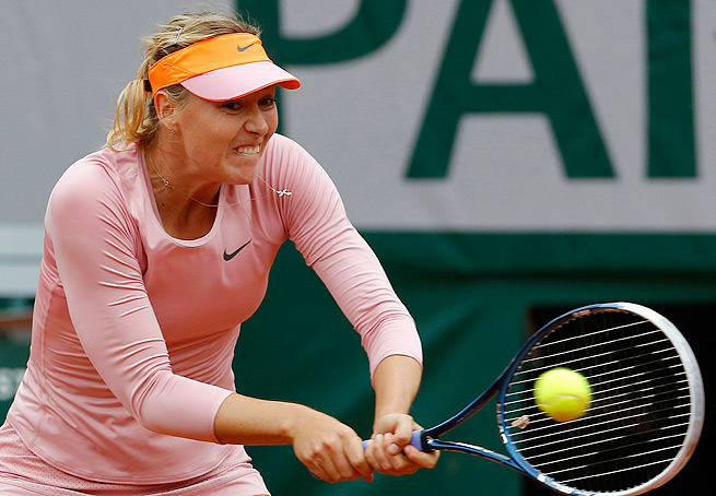 After a late start due to the rain, Maria Sharapova needed just 61 minutes to beat Ksenia Pervak.