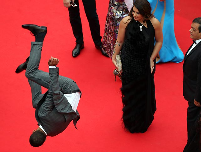 French hoofer Brahim Zaibat stunned bystanders by breaking into his interpretive dance version of the Cannes-Cannes as he arrived for the screening of the exciting cinematic achievement <italics>Foxcatcher, </italics>which unspooled at the 67th edition of the famed film festival in southern France.