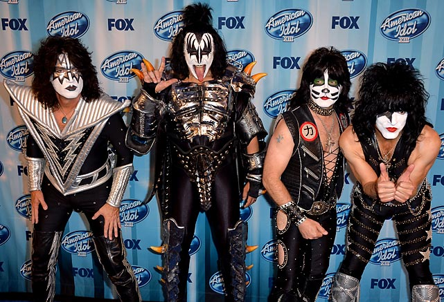 This week's hearty farewell comes courtesy of Tommy Thayer, Gene Simmons, Eric Singer, and Paul Stanley from the press room of Fox's <italics>American Idol</italics> XIII Finale at Nokia Theatre in fantastic LA.