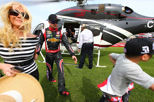 Busch, who changed into his NASCAR firesuit on the trip, had his blood pressure checked and intravenous fluids administered by the doctor and nurse aboard the Cessna. He drank 12 ounces of water before getting into the helicopter and another 20 ounces of liquids - including beet root juice. He ate a high potassium and high protein bar, a box of raisins and a little beef jerky.