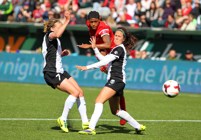 The Seattle Reign and Portland Thorns (pictured above) and the rest of NWSL will have nine matches broadcast by ESPN this season.