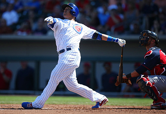 Javier Baez struggled early this season but has been on fire of late, bumping his average to .225.