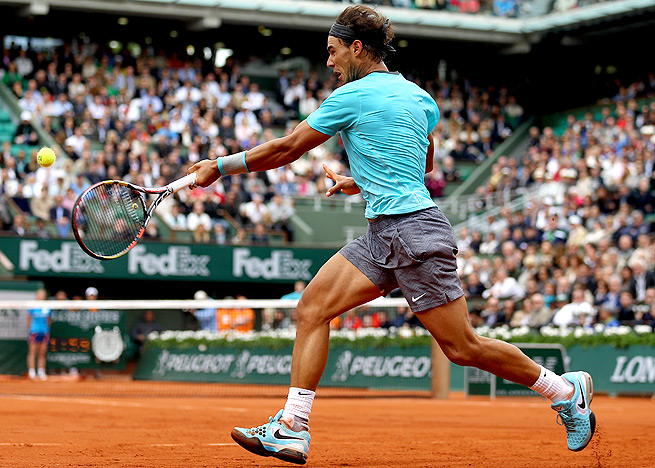 Rafael Nadal defeated Dominic Thiem 6-2, 6-2, 6-3, but applauded his powerful groundstrokes.