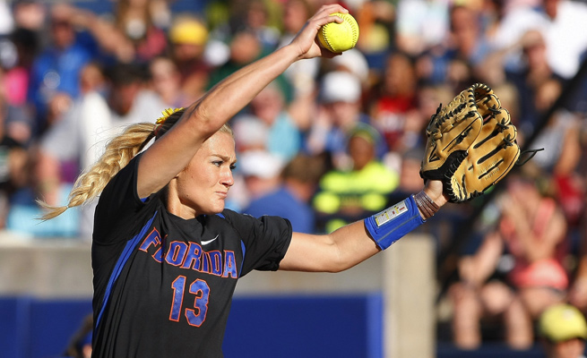 Hannah Rogers threw her second straight three-hitter in lifting to Gators closer to a Finals berth.