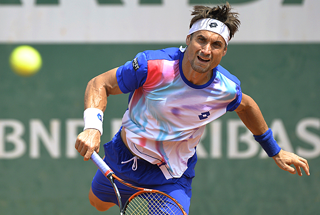 No. 5-seed David Ferrer has yet to lose a set at the French Open this year.