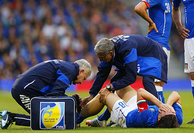 Italy's Riccardo Montolivo's World Cup status is unlikely following an apparently serious leg injury.