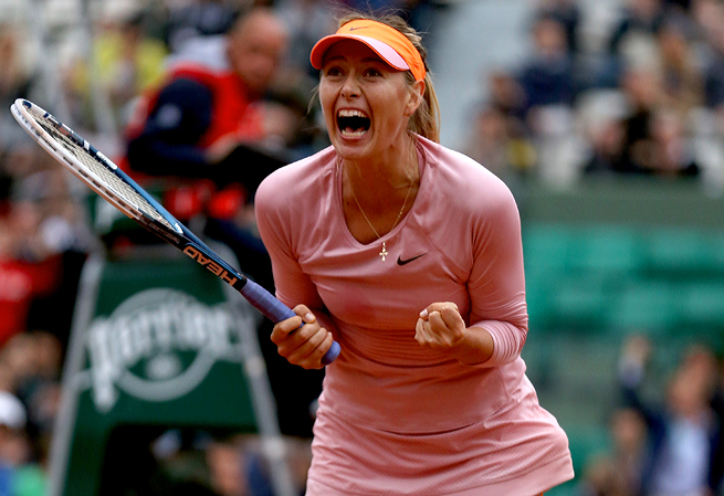 Maria Sharapova was on the verge of losing to Sam Stosur before she turned around her game.