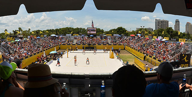 A view of the women's final from club seats.