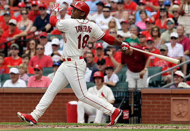 Oscar Taveras sent the hype machine into overdrive with a towering solo home run in his major league debut on Saturday.