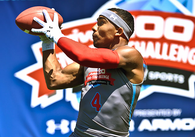 Despite his 5-foot-10 frame, Christian Kirk will look to prove he is a top wide receiver in the 2015 class.