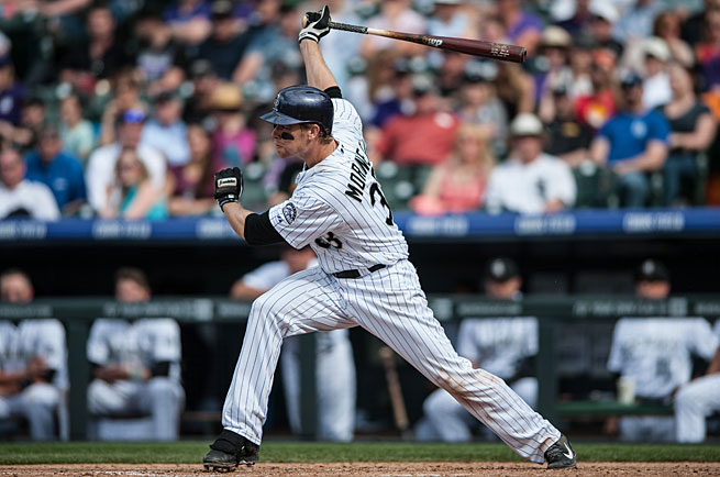 Justin Morneau is swinging the bat like he did before concussions derailed his career four years ago.